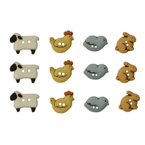 Dress It Up 'Country Critters' Button Pack
