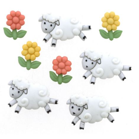 Dress It Up 'Counting Sheep' Button Pack