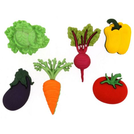 Dress It Up 'Fresh Produce' Button Pack