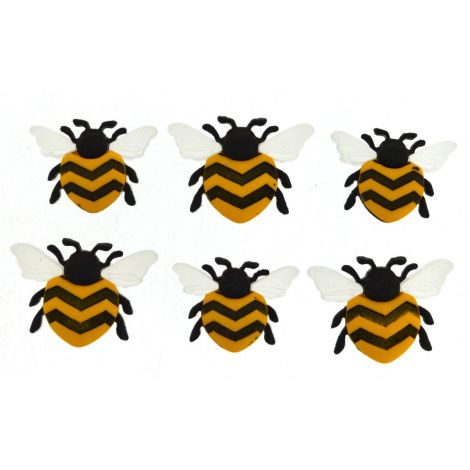 Dress It Up 'Bee happy' Button Pack