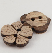 17mm Coconut Flower 2 Hole Button
