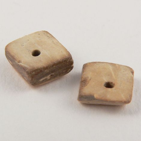 7mm  Coconut Square 1 Hole Button