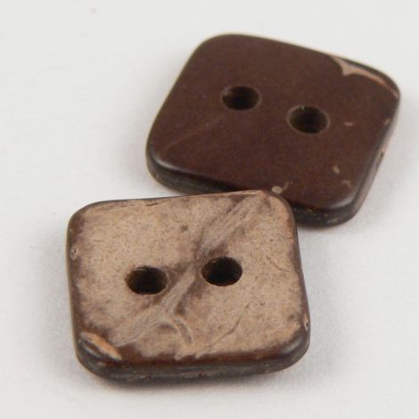 12mm Coconut Square 2 Hole Button