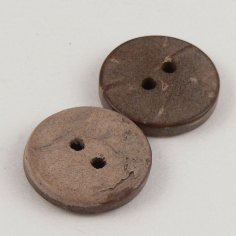 8mm  Coconut Round 2 Hole Button