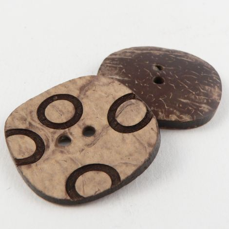 32mm Coconut Contemporary 2 Hole Button