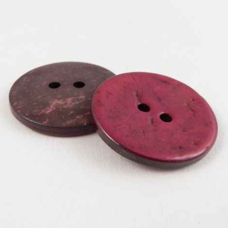 30mm Italian Glazed Hot Pink Coconut 2 Hole Button