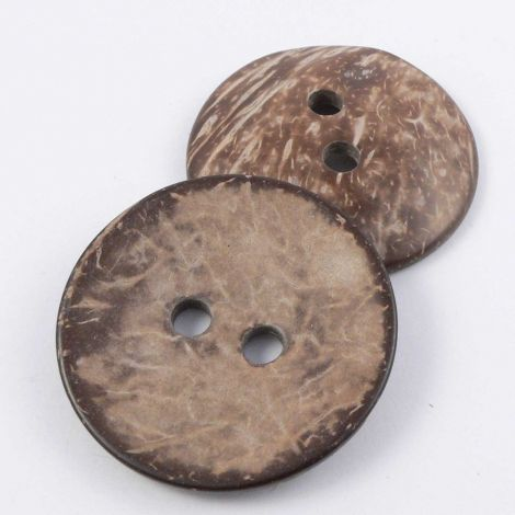 20mm Coconut Round 2 Hole Button