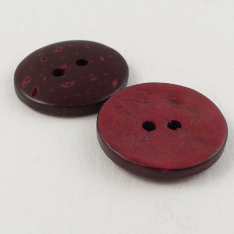 23mm Red Coconut 2 Hole Button
