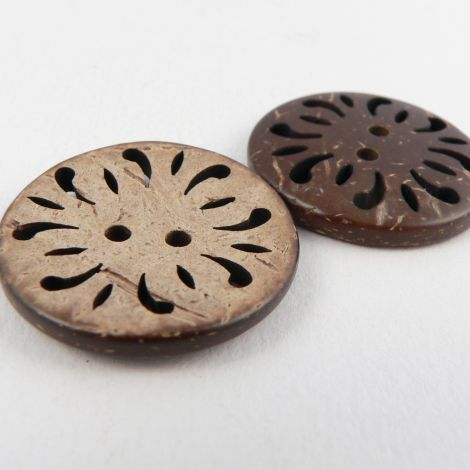 44mm Reversible Coconut Flower 2 Hole Button