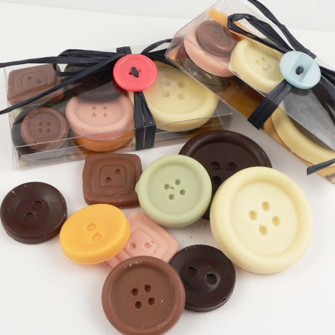 80 grams Box Handmade Organic Chocolate Buttons