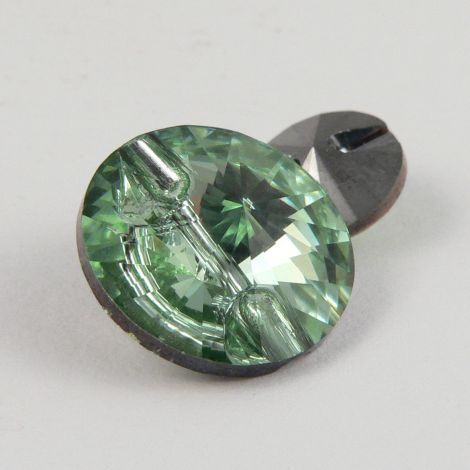 16mm Swarovski Austrian Crystal Chrysolite Shank Button