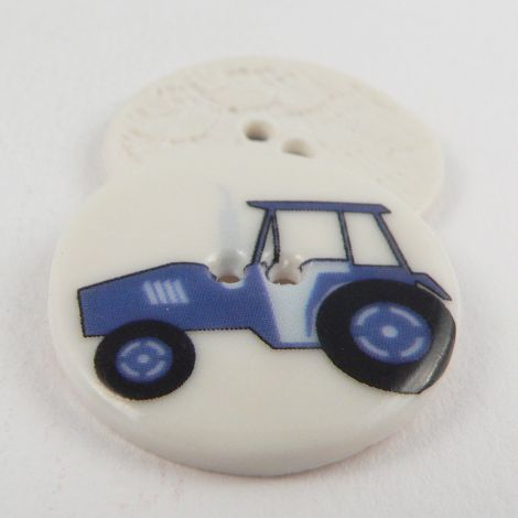 29mm Ceramic Blue Tractor 2 Hole Button