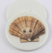 29mm Ceramic Scallop Shell 2 Hole Button