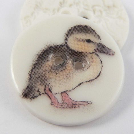 23mm Ceramic Duckling 2 Hole Button