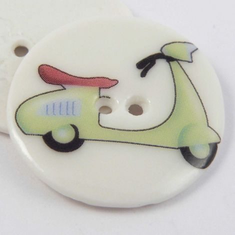 29mm Ceramic Green Scooter 2 Hole Button