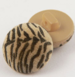 15mm Tiger Print Fabric Shank Button
