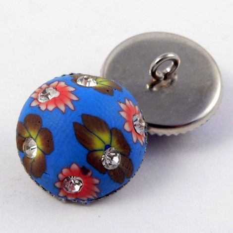 15mm Domed Handpainted Composite Shank Button