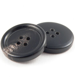 28mm Black/Brown Round Horn 4 Hole Button