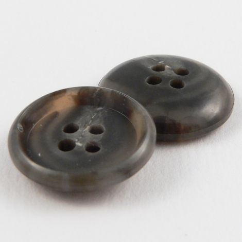 19mm Grey/Brown Horn 4 Hole Button