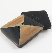 25mm Black/Brown Designer Square Horn 2 Hole Button