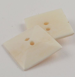 32mm Ivory Square Bone 2 Hole Button