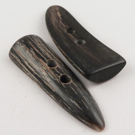 50mm Brown Bark Effect Horn 2 Hole Toggle Button