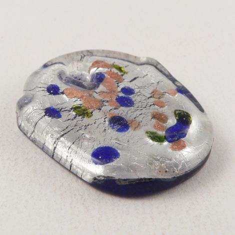 40mm 1 Hole Abstract Unusual Glass Pendant/Button