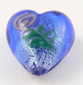 28mm  Heart Pendant Glass 1 Hole Button