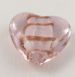 35mm  Heart Pendant Glass 1 Hole Button