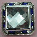 21mm Square Crystal Shank Button Set In Diamantes and Gems