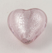 28mm Pink Heart Pendant Glass 1 Hole Button