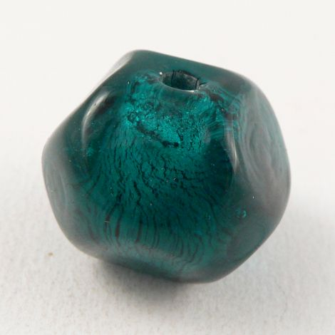 28mm Round Ball Glass 1 Hole Bead/Button
