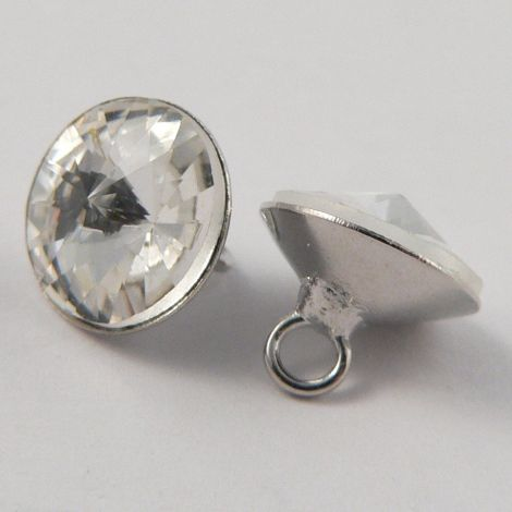 9mm Wedding Dress Faceted Glass Shank Button