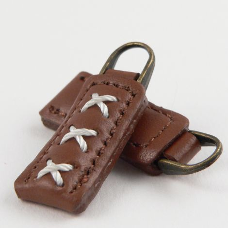 37mm Brown Rectangular Zip 1 Hole Button