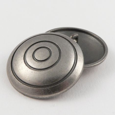 33mm Round Domed Pewter Metal Shank Button