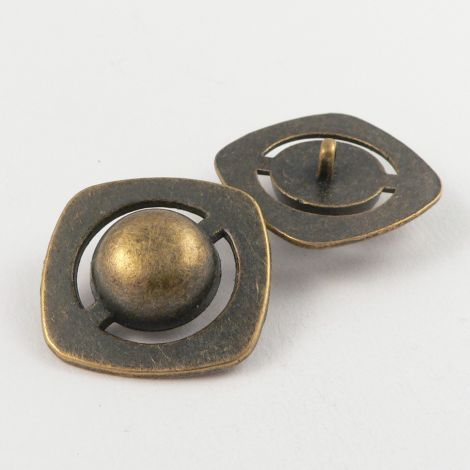 28mm Square Contemporary Metal Shank Button