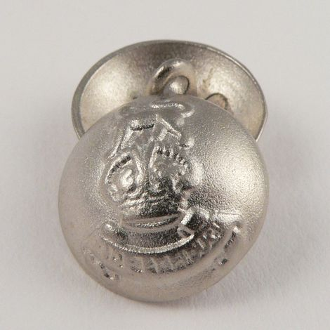 20mm Silver Metal Shank Domed Coat of Arms Button