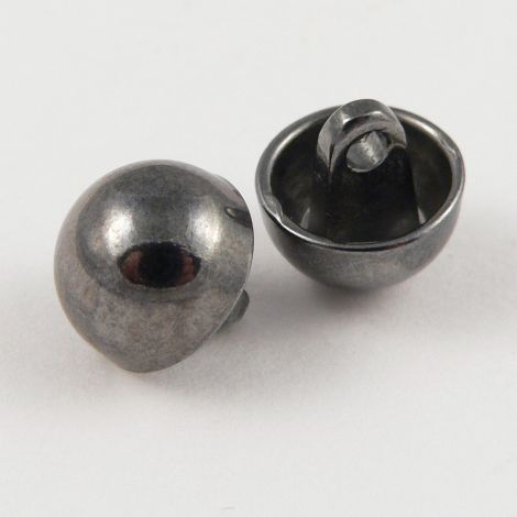 11mm Shiny Pewter Domed Metal Shank Upholstery Button