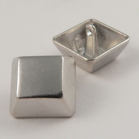 20mm Silver Square Contemporary Shank Metal Button