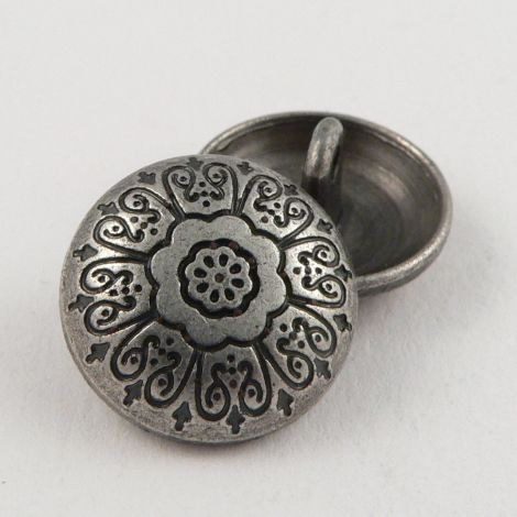 18mm Round Pewter Decorative Metal Shank Button