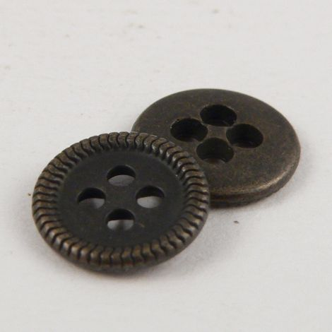 10mm Brass Metal 4 Hole Shirt Button