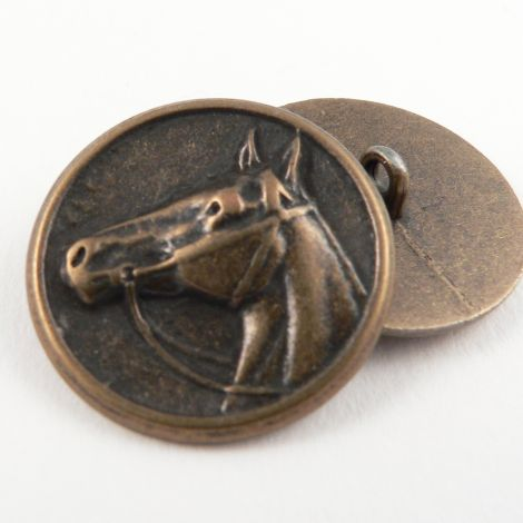 20mm Brass Horse Head Metal Shank Button