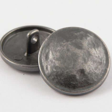 20mm Battered Pewter Metal Shank Upholstery Button