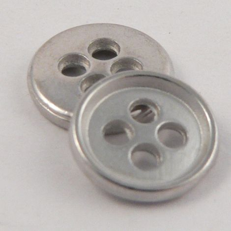 11.5mm Matt Silver Metal 4 Hole Shirt Buttons