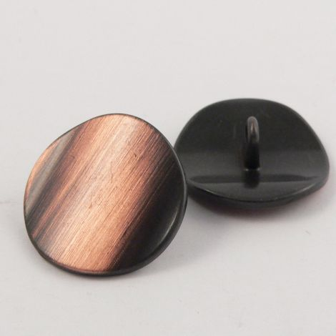 15mm Brushed Copper Metal Shank Button