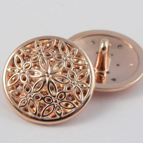 15mm Rose Gold Metal Suit Shank Button