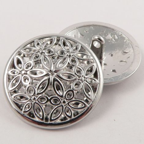 20mm Silver Metal Suit Shank Button