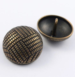 27mm Brass Parquet Designed Metal Shank Button