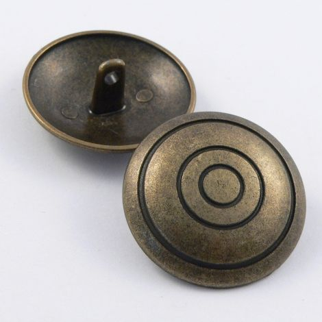 25mm Round Domed Brass Metal Shank Button