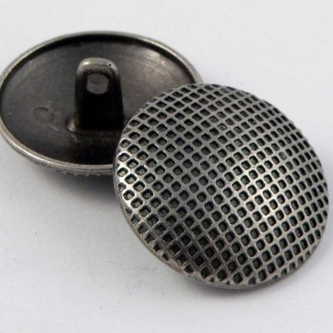 23mm Lattice Pewter Metal Shank Button